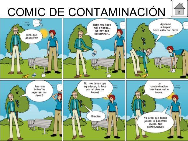 Resultado de imagen para historieta del medio ambiente