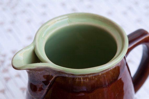 Denby Stoneware 2pt Coffee Pot / Jug  Brown & Green by HobbyMum, $28.00