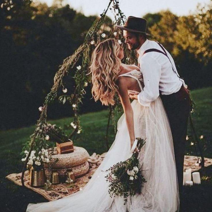 Un Mariage Bohème pour Célébrer l'amour dans une ambiance chic. Vive le n…