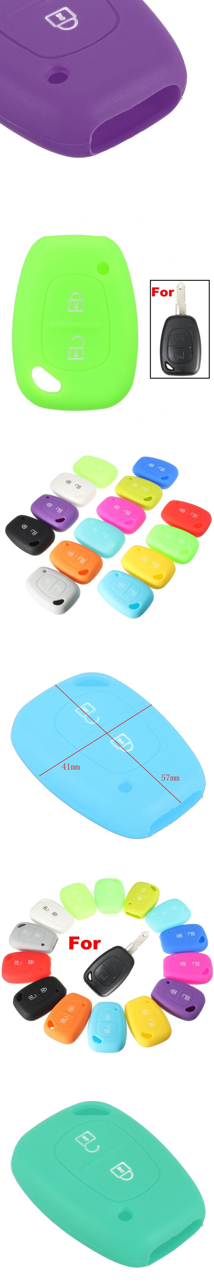 2 Button Silicone Remote Key Fob Case Cover For Renault /Kangoo /Master /Trafic