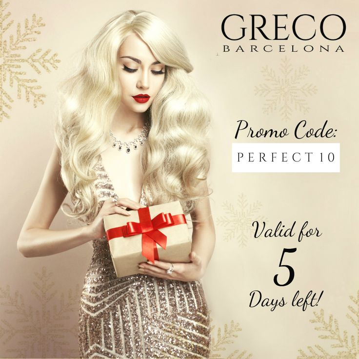 Promo code: Perfect10 ending soon!  If you are looking for a last minute Gift for that Special someone in your life then you will definitely be able to find it in Greco Barcelona.  The perfect gift with 10% OFF of any selection you make in our store 😘😘 Tis' the season to be Jolly! 😲😲🎶🎶Tralalalalalalalala 🎶🎶😲😲 💙💙 Greco Barcelona - Official GIA Retailer Your Trusted Diamond Jeweler