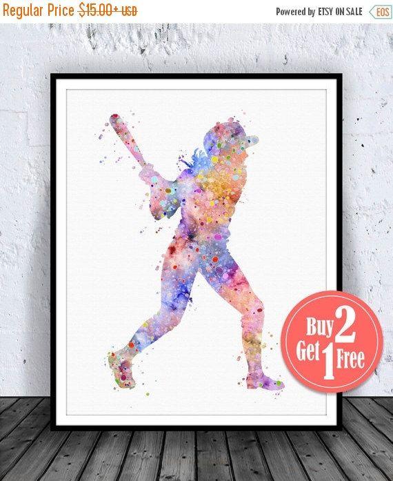 GRANDE vente: Softball Decor Softball Print affiche de par CarmaZoe