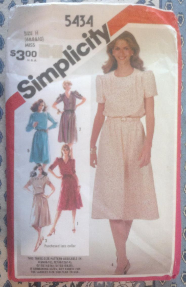 Simplicity 5434 Vintage Dress Sewing Pattern by KnitsanStitches on Etsy
