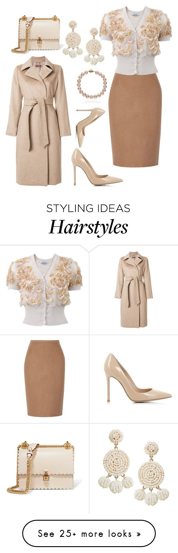 """""""Nudes"""" by styledbytjohnson on Polyvore featuring MaxMara, Blumarine, Gianvito Rossi, Fendi and Humble Chic"""