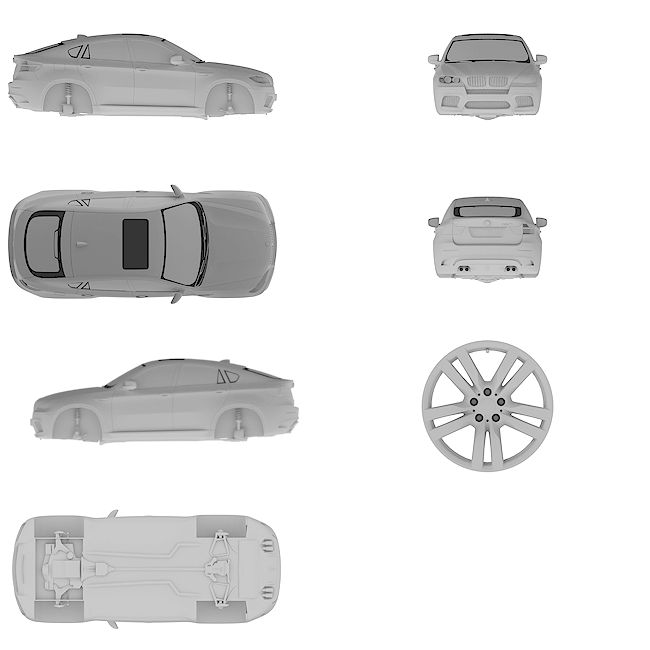 4k Ultra HD high resolution blueprint of BMW | X6 M