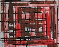 William Gear, Abstract (1957) at Edge Fine Art.