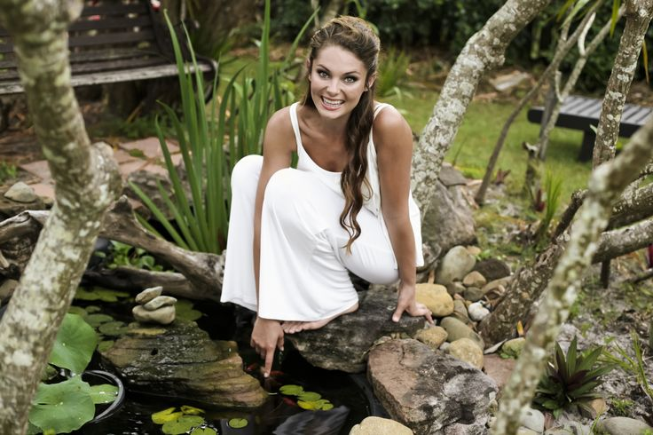 Bodypeace bamboo clothing. Elegant and comfortable fashion. Palazzo pants in cream.  www.bodypeacebamboo.com