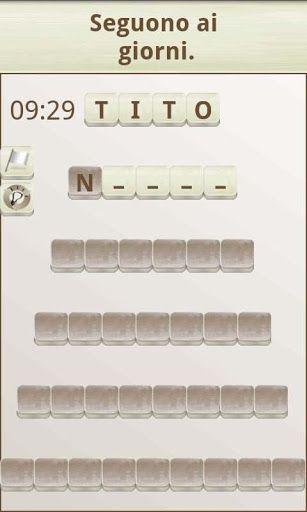"""Un divertente gioco di parole in italiano!<p>L'obiettivo del gioco è """"costruire"""" parole che coincidano con una definizione data, allo stile dei suggerimenti di un cruciverba. Per questo potrai muovere le schede sopra il fondo bianco (le schede di colore scuro non le potrai muovere).<p>In questo modo potrai creare catene di parole, dal momento che ogni parola nuova che """"creerai"""" sarà con le lettere della precedente.<p>Ogni pannello avrà una lista di 6 parole incatenate, di diverse dimensioni…"""