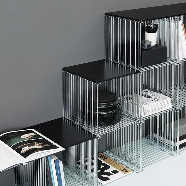 News for the Panton Wire shelving system. Top plates in various colours and materials. In stores from August. #montanafurniture #danishdesign #panton #pantonwire #homedecor #interiordecor #interiordesign