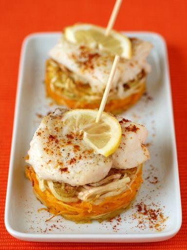 Filets de poisson au four aux petits légumes : Recette de Filets de poisson au four aux petits légumes - Marmiton