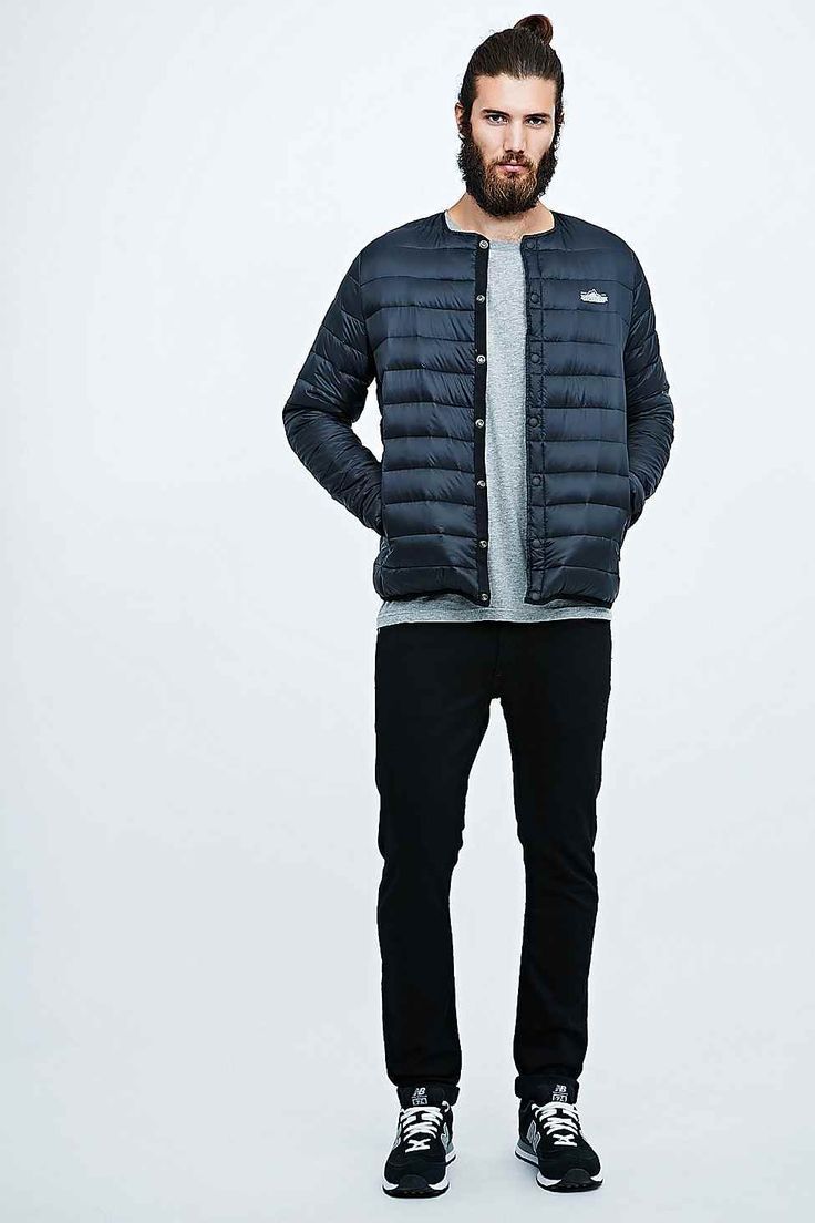 Penfield Maloata Collarless Down Jacket in Black - Urban Outfitters