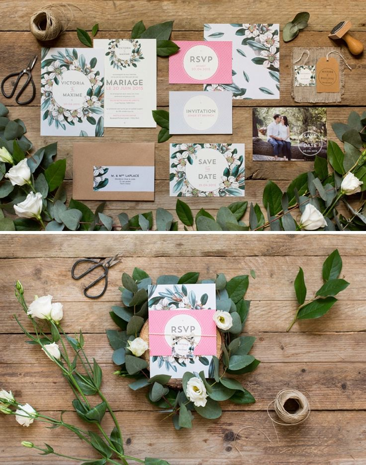 My Dear Paper - sur Queen For A Day Crédits photo Carnets Parisiens -wedding invite ideas
