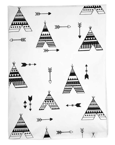 Bedding Set - Teepee | 100% Cotton Percale | Available: Standard Cot Size Duvet cover (incl pillowcase) | Single Bed Duvet cover (incl pillowcase) | Fitted Sheet Size: 130 x 64 x 10 cm| Baby Duvet Size: 80 x 120 cm | Pillow Size: 30 x 40 cm |