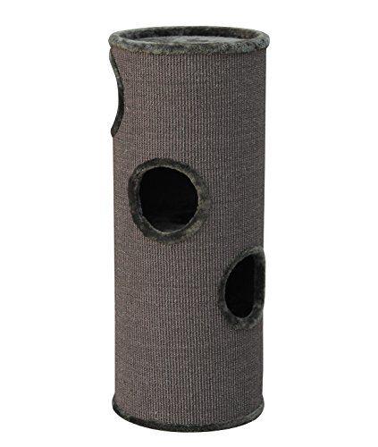 Aus der Kategorie Kratzbäume & -matten  gibt es, zum Preis von EUR 93,69  Der Nobby Kratzbaum Dasha III ist eine Kratzhöhle / Katzentonne in zylindrischer Form. Mehrere Ebenen verfügen über einen Eingang und sind mit Durchgängen miteinander verbunden. Die Bodenplatten und die Ränder der Eingänge sind mit Plüsch verkleidet, die Außenfläche besteht zum Großteil aus Sisal.Grundfläche: ø 38 cmHöhe: 98 cmKratzfläche Sisal