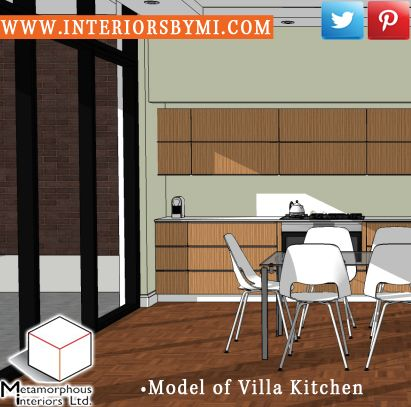 Model of Villa Kitchen  #InteriorDesign #Vision #Design  www.InteriorsBYMI.com