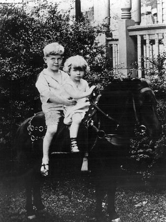 Doris Day with her older brother, Paul  (circa 1927).  Doris adored her brother, and they remained very close until Paul's early death (of lingering effects from a baseball injury that he sustained while in his teens).
