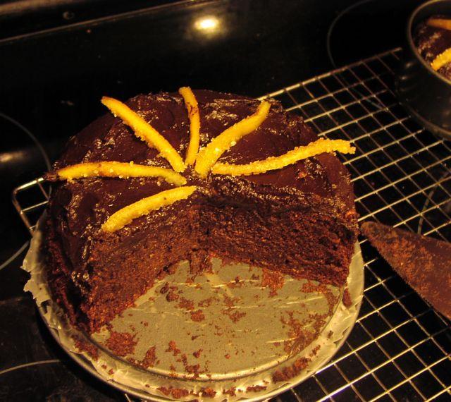 candied orange peel cake