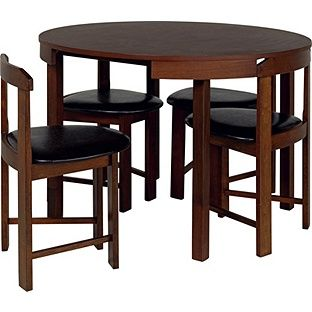 Buy Hygena Alena Wood Stain Circular Dining Table And 4 Chairs At Argosco