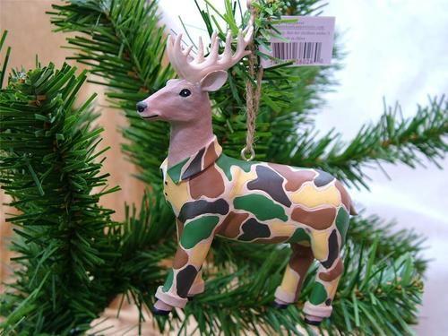 New Deer Hunters Hunting Camo Camouflage Buck Antlers Christmas ...