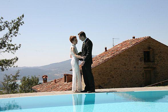 Naimisiin ulkomailla – Unelmahäät Toscanassa? Miten olisi esimerkiksi tämä Sansepolcrossa sijaitseva Vallorsaia?