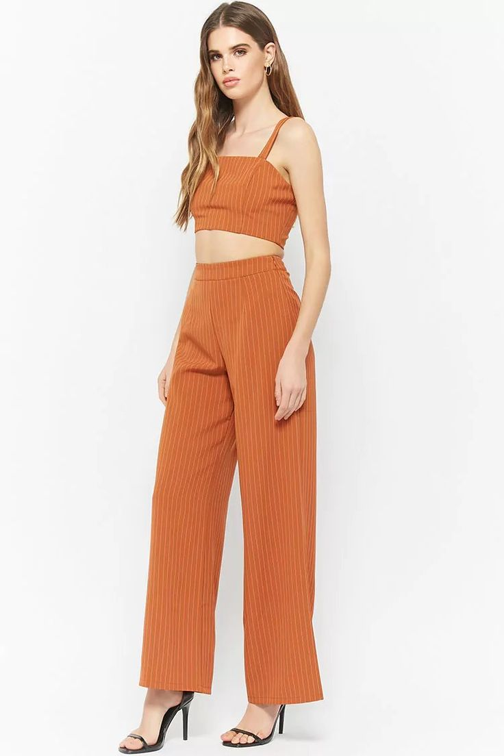 Pinstriped Crop Top | Forever21