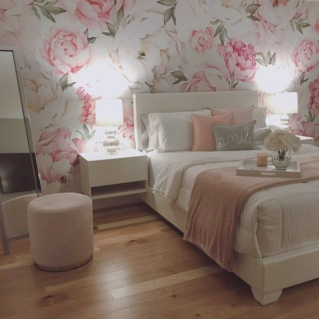 Peony Flower Mural Wallpaper Mixed Pink Watercolor Peony Extra Large Wall Art Peel And Stick Wall Mural In 2020 Flower Mural Floral Wallpaper Bedroom Mural Wallpaper