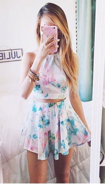 Floral two-piece.