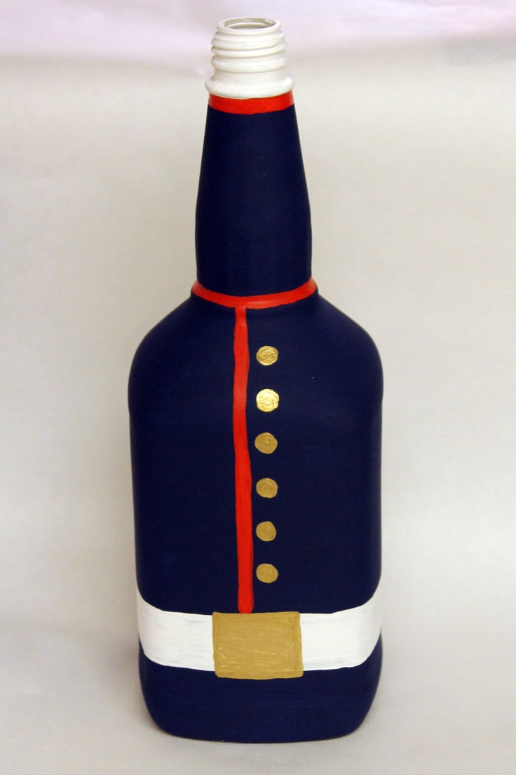 USMC dress blues-wish I could paint I'd give this a try with an upcycle bottle