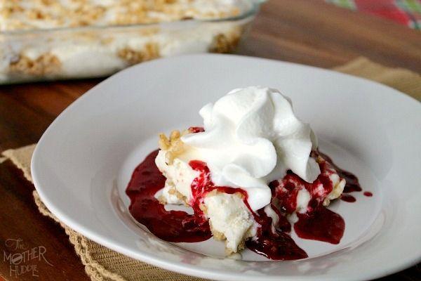 Rice Crispie Ice Cream Dessert