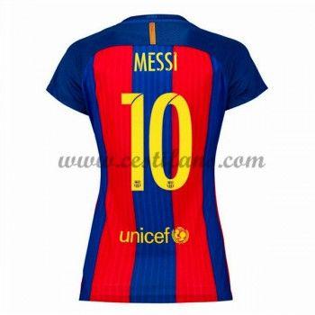 Barcelona Dámské Fotbalové Dresy 2016-17 Messi 10 Domáci Dres
