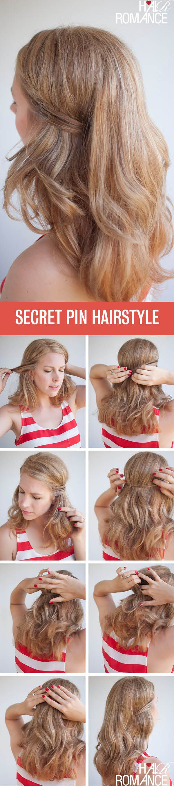 Two easy ways to pin back your hair