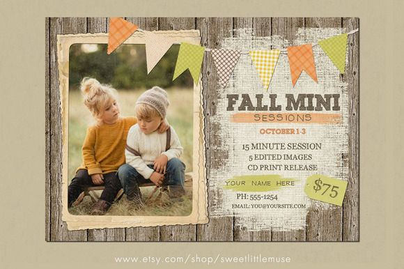 Check out Fall Mini Session Template by SweetLittleMuse on Creative Market