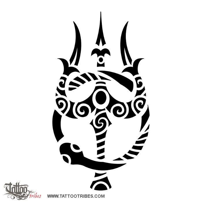 Tatuaggio di Trishula e ouroboros, Eternità, unità tattoo - TattooTribes.com