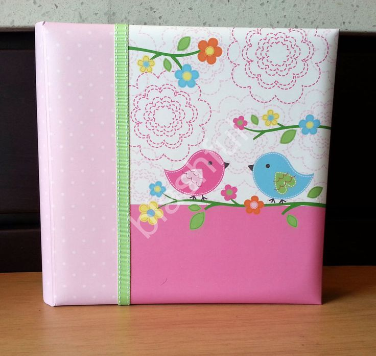 new nojo pink love birds u0026 owls baby girl large photo album holds 200 4x6 pics - 4x6 Photo Albums