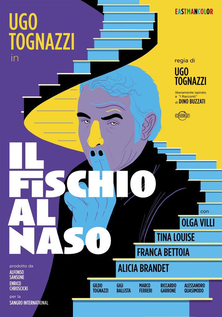 """33T d'Autore, celebrando #Tognazzi. Dal 17 ottobre al 22 novembre 2015 a #Cremona. 33 #manifesti d'autore """"rifatti"""" da 33 illustratori e grafici italiani, celebrano Ugo Tognazzi http://www.ilsitodelledonne.it/?p=18499 Il Fischio al naso"""