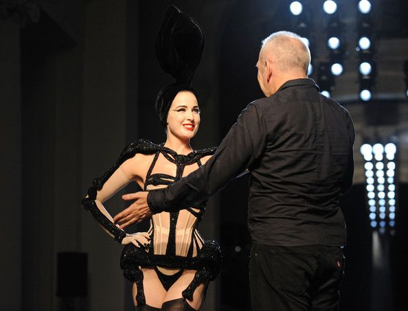 Dita Von Teese Lookbook: Dita Von Teese wearing Jean Paul Gautier Lingerie (12 of 20). All we can say is OMG! Dita looked so fierce on the catwalk sporting a skeleton-inspired corset during Paris' Haute Couture Shows.