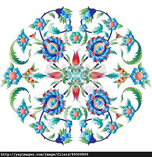 Ottoman art flowers twelve