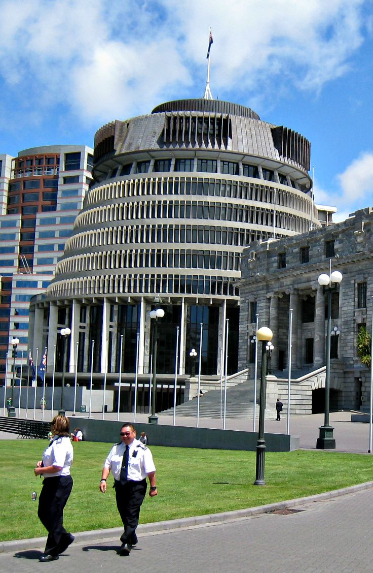 The Beehive, New Zealand Parliament, Wellington.