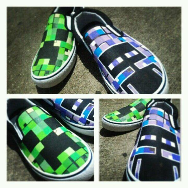 custom minecraft shoes (BAMFS) by pyropete03
