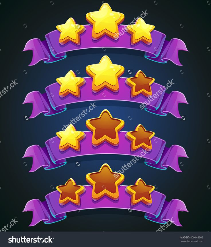 Set Of Colored Stars And Ribbons For Web Site Or App Graphics And Design. For Newspapers, Magazines, Web Design, Websites, Printing Стоковая векторная иллюстрация 409145905 : Shutterstock