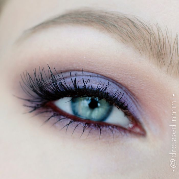 Dressed in mint: make up. – Bridal makeup in purples / step by step