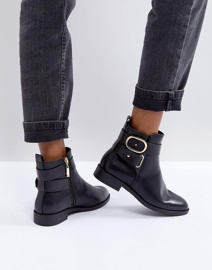 Boots Miss Jetzt Kg Trinny Schwarz Flache Ankle 0wk8nOP
