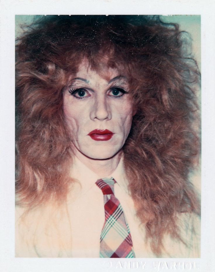 Andy Warhol - Self-Portrait in Drag (Long Reddish-Brown Wig and Plaid Tie), 1981/82.