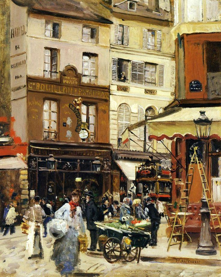 Rue de Montmartre, Jean-Francois Raffaelli. French (1850-1924)