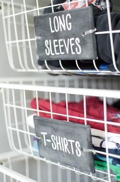 Organized Closet with IKEA ALGOT and Chalkboard Labels