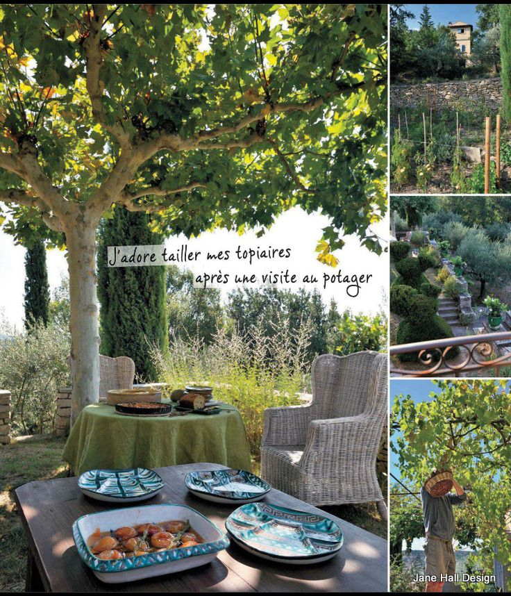 country style garden featured in maison cote sud decor magazine fro france country style. Black Bedroom Furniture Sets. Home Design Ideas
