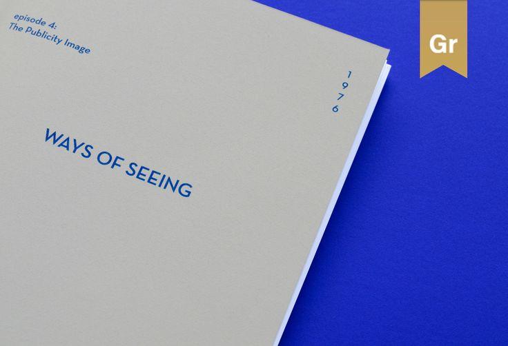다음 @Behance 프로젝트 확인: \u201cWays of Seeing\u201d https://www.behance.net/gallery/44929639/Ways-of-Seeing