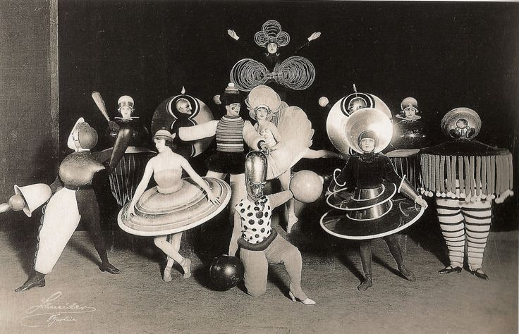 Definitive Proof Nobody Did Costume Parties Like the Bauhaus - Photo by Karl Grill via The Charnel-House