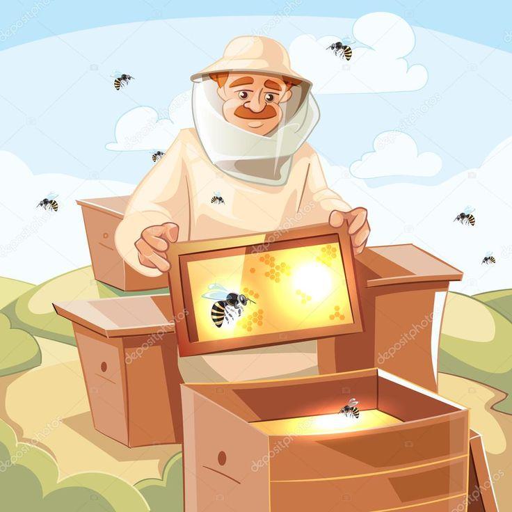 ушел работа пчеловода рисунок оформлении можно использовать