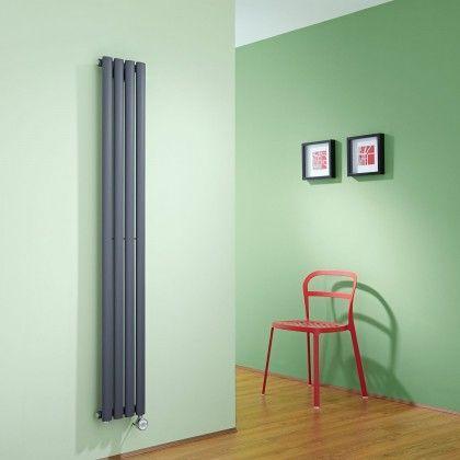 Electric Milano Aruba Slim - Anthracite Space-Saving Designer Radiator - http://www.bestheating.com/milano-aruba-slim-anthracite-space-saving-vertical-electric-designer-radiator-1600mm-x-236mm.html